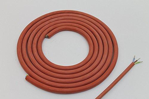 Doubleyou Geovlies & Baustoffe® Silikonkabel 3 x 1,5 mm Zuschnitt (5m) Silikonleitung Saunakabel - Hitzebeständig und optimal für den Einsatz in der Sauna