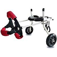 Silla de ruedas para mascotas Tamaño ajustable para el perro Hind Limb entrenamiento Scooter auxiliar, una variedad de modelos adecuados para 2-50 KG Ropa para mascotas ( Color : Red , Tamaño : XS )