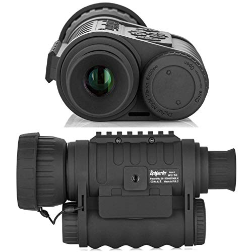Bestguarder Digital de visión Nocturna monocular Scope 6 x 50 mm por Infrarrojos HD cámara Lleva 5 MP 720P Video de Fotos de hasta 350 m/1150ft detección Distancia con 1,5 TFT LCD