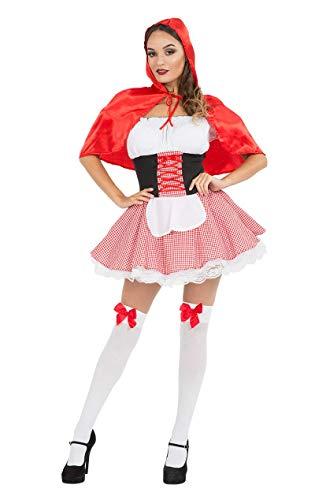 Deluxe Rotkäppchen Kostüm für Karneval Verkleidung Mottoparty Damen (Rotkäppchen Deluxe Kostüm)