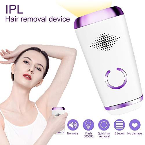 IPL Haarentfernung 500000 Blitze Schmerzlos Laser Rasierer IPL Haarentfernungsgerät für Körper Gesicht Bikini und Unterarme