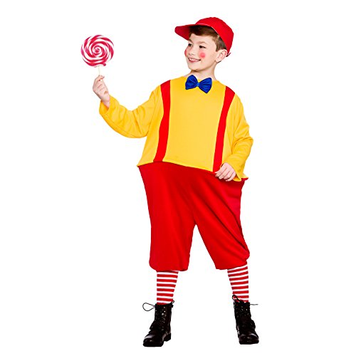 Boys Storybook Twin Red Yellow Fancy Dress Up Party Costume Halloween (Tweedle Dee Kostüme Tweedle Dum)
