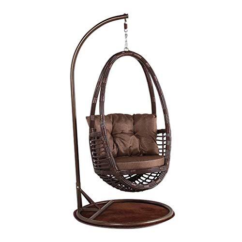 Schaukelstuhl Hängender Korb-Stuhl im Freien, freies Geschenk-Kissen-Teppich-Garten Color : K(Coffee Table) - Natürliche Reben-teppich