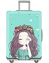 Leoie Travel Suitcase Protective Cover Luggage Case Travel Accessories Garland Girl XL 30~32 inch