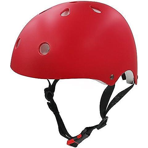 Monopatín casco, casco de protección Global para L/XL, diseño de monopatín patinete para patines patinaje sobre ruedas Ciclismo bicicleta BMX MTB bicicleta de carretera y otros deportes al aire libre,