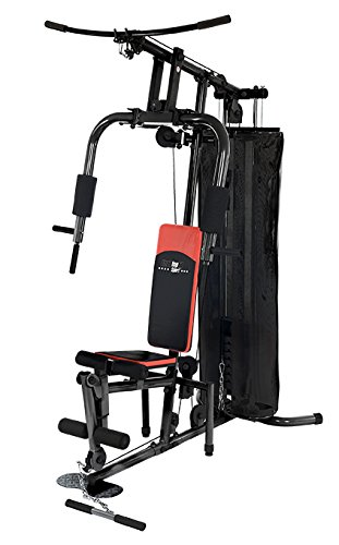 Christopeit Fitness-Station SP 10 de Luxe, Schwarz Rot