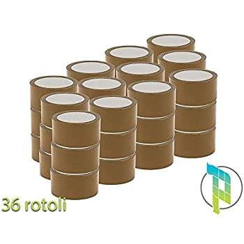 3 Rotoli Di Nastro Adesivo Per Imballaggi 50x132Mt Avana 3 Pezzi