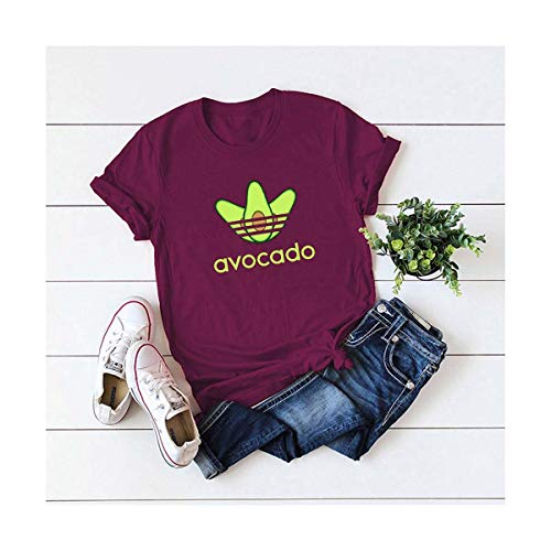 Funny Avocado Women T Shirts 2019 Summer Female Short Sleeve Harajuku Shirt Femme Office Mom Tops 5XL Plus Size Graphic Tees JH L -