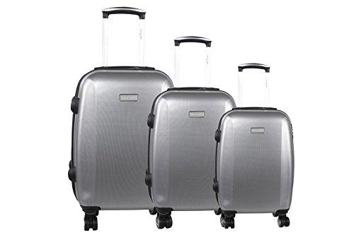 3 Maletas rígidas PIERRE CARDIN gris cabina para viajes S290