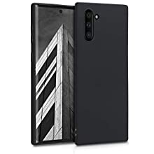 kwmobile TPU Silicone Case Compatible with Samsung Galaxy Note 10 - Soft Flexible Protective Phone Cover - Black Matte