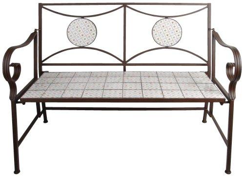 Esschert Design Gartenbank im Botanicae Design, ca. 116 cm x 59 cm x 89 cm