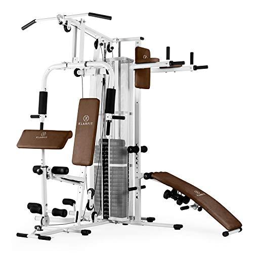 Klarfit Ultimate Gym 5000 White Edition - Máquina de Gimnasio, Estaci