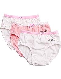 IPBEN 6 Pack Biancheria Intima di Cotone per Ragazze Bambini Mutande Slip  Breve Mutande 3- 55e2054dbc71