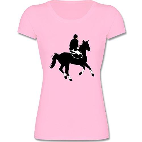 Sport Kind - Dressur Pferd Reiter Dressurreiten - 164 (14-15 Jahre) - Rosa - F288K - Mädchen T-Shirt