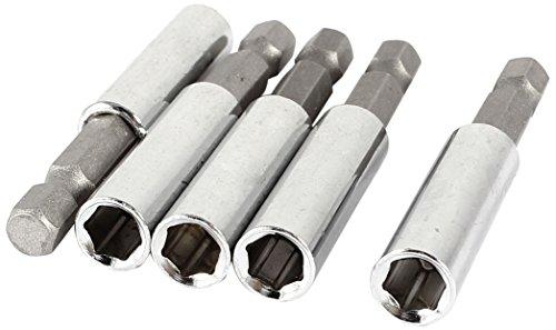 Sourcingmap, a14041800ux0429, 0,64 centimetri chiave a tubo dado esagonale magnetica chiave combinata Driver (5 pezzi) - Dado Elettrico Driver