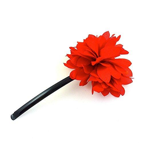 rougecaramel - Accessoires cheveux - Mini pince fleur - orange