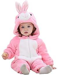 Queque Shine Jumpsuit Bebé Unisexo Bebé Recién Nacido Franela Mameluco Invierno Ropa Una Pieza Pijamas Animal