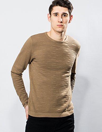 Only & Sons Herren Strickpullover - Crewneck Sweater - 2 Farben Brown