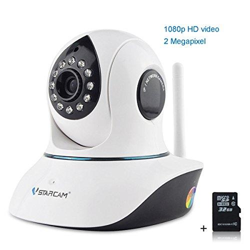 Vstarcam-C38S-IP-Cmara-de-vigilancia-de-interior-Wifi-IP-Cmara-IR-Cut-1080P-HD-Visin-Nocturna-Seguridad-Alarma-Deteccin-Movimiento-Visualizacin-Remota-Compatible-con-iOS-y-Android-Incluido-32G-Tarjeta