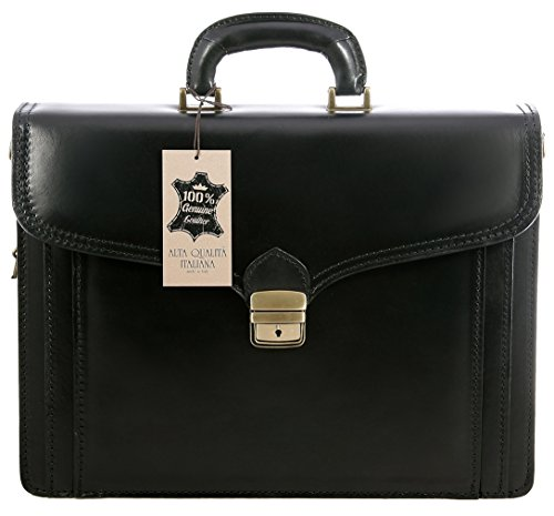 Chicca Tutto Moda Organisateur Sac Homme par Braquage à l'italienne, 100% cuir véritable Made in Italy