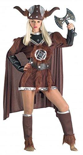 Wikingerfraukostüm Barbarinkostüm Luxuswikingerkostüm, (2017 Halloween Kostüme Weibliche Beste)