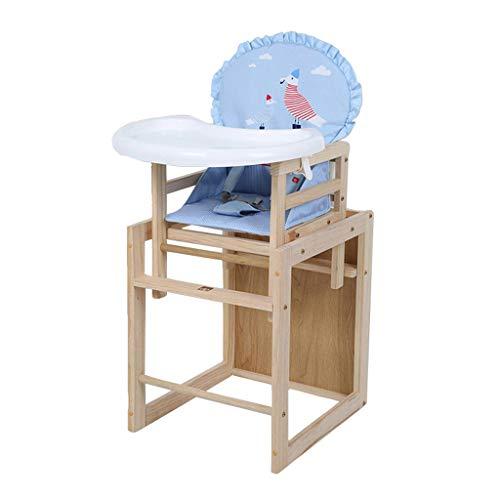 Portable Ergonomique Chaise Haute, Bois Pliable Chaise de bébé, Multifonction de sécurité Chaise de Salle à Manger pour bébé avec Plateau de Protection de l'environnement, Poids de roulement 30kg