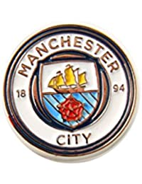 Club Licensed Man City Pin Badge (New Crest) - One Size