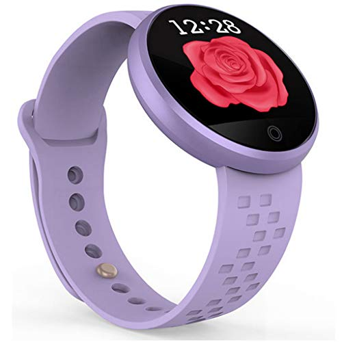 LRWEY Fitness Armband Herzfrequenz Smart Armband, Weibliche Herzfrequenz Farbbildschirm Physiologischer Zeitraum Erinnert Mode Smart Armband, für iPhone Android Handy