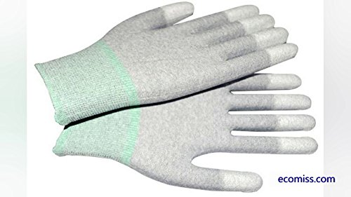 Evident ESD Safe Antistatic Finger Top Fit PU Coated Gloves 1 Pair Colour