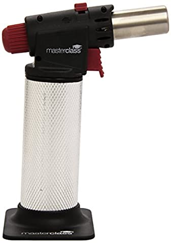 KitchenCraft MasterClass Pro Cooks Blow Torch, Silver/Black/Red