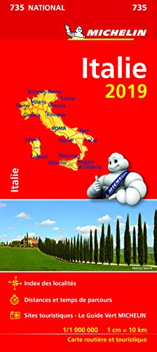 Carte Italie Michelin 2019