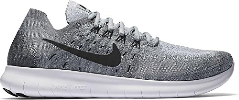 Nike Men's Free RN Flyknit 2017 Running Shoe, Wolf Grey/Black-anthracite-cool Grey, 41 D(M) EU/7 D(M) UK