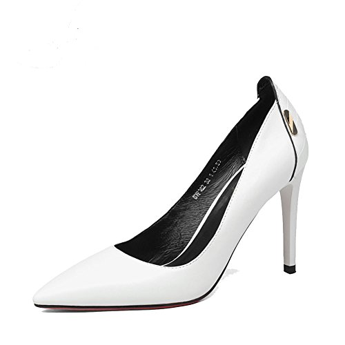 Dame printemps carrière high heels/talons hauts mode superficiel/chaussures à talon pointu classique A