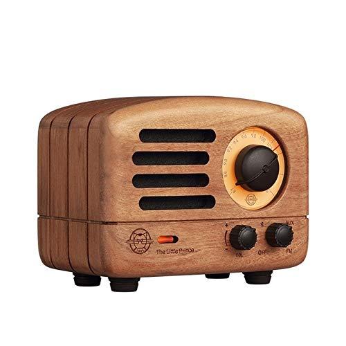 Haut-Parleur qiyanBluetooth MW 2 / MW 2i Le Petit Prince FM Radio Subwoofer en Bois Fait à la Main Rétro Art Présent-dans des Haut-parleurs Portables Cherry