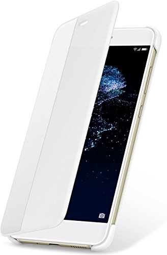 Huawei Custodia Flip View per P10 Lite, Accessorio Originale, Bianco