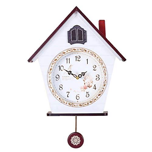 Xinxinchaoshi-wall clock Kuckucksuhr für Wohnzimmer, mit automatischer Schließung, Kuckucksuhr, für Kinderzimmer, Kuckucksuhr (Farbe: A)