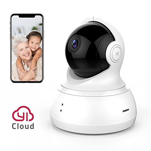 YI Dome Camera Pan/Tilt/Zoom Wireless IP Security Surveillance System 720p HD Night Vision Cloud Service Available