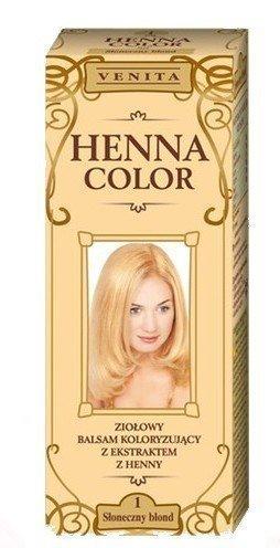 Henna Color 1 Sonnige Blond Haarbalsam Haarfarbe Farbeffekt Naturhaarfärbemittel Henne Öko (Für Haarfarbe Henna Frauen)