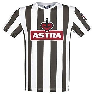 FC St. Pauli Traditions-Shirt Astra T-Shirt braun/weiß L
