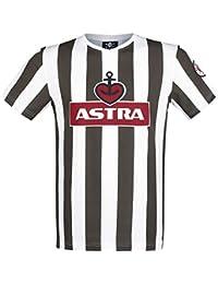 FC St. Pauli Traditions-Shirt Astra Camiseta Marrón-Blanco
