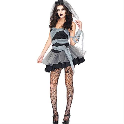 Show Kostüm Tv Billig - Vampir Zombie Cosplay Schwarz Geist Braut Kostüme Hexe Prinzessin Mesh Kleid Und Kopf Tragen Set Halloween Kostüme Für Frauen 2017 XL als Show