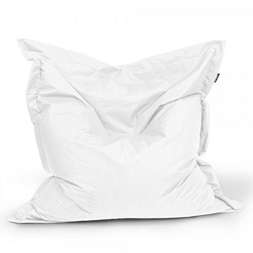 BuBiBag Sitzsack 200x140cm ca.480L Sitzkissen Bodenkissen Kissen Sofa Sessel (weiß)