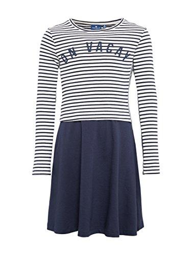 TOM TAILOR für Mädchen Kleider & Jumpsuits 2-in-1 Kleid mit Langarmshirt Black iris Blue, 152