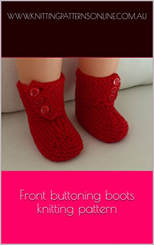 Front buttoning boots knitting pattern - Sonia (English Edition)