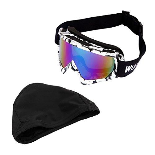 MagiDeal UV400 Schutz Skibrille Sonnenbrillen + Schnell Trocknender Radsport Skull Hat