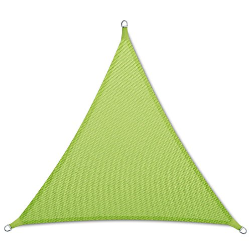 casa pura® Sonnensegel wasserabweisend imprägniert | Dreieck gleichseitig | Testnote 1.4 | UV Schutz Größen (hellgrün, 3x3x3m)