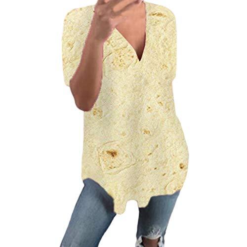 Malloom-Bekleidung Frauen Größe mexikanische Pfannkuchen Kurze ärmellose Druckweste Sommer V-Ausschnitt T