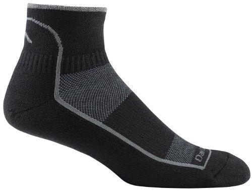 Darn Tough Vermont Herren 1/4Coolmax Kissen Athletic Socken, Herren, weiß (1/4 Sock Coolmax)