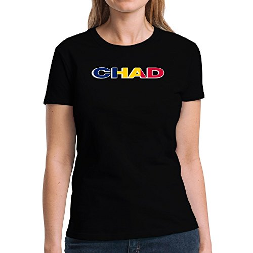 Eddany Chad country flag Damen T-Shirt (Flag Chad T-shirt)