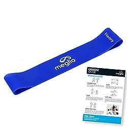 meglio Widerstandsband Loop 1x blau - Loop Band/Fitnessbänder / Gymnastikbänder für Yoga, Pilates, Rehabilitation, Training - kostenloses Übungs-Guide inbegriffen - blau (schwer))